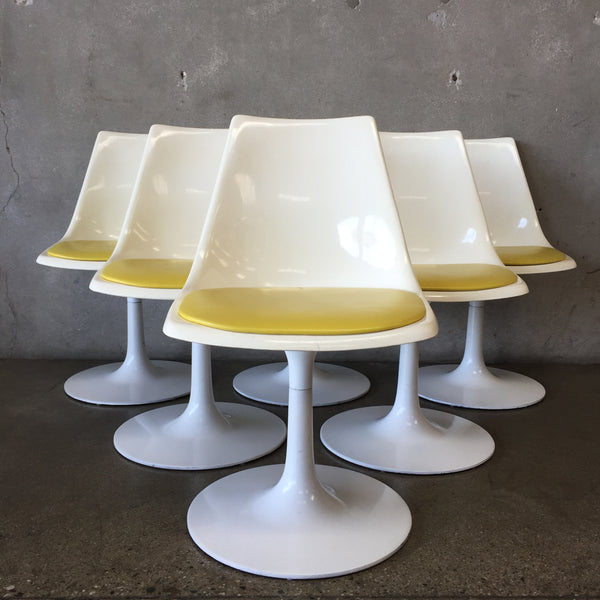 Set of Six Fiberglass Chairs by Krueger