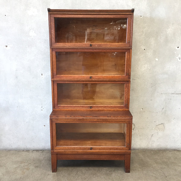 Vintage 1920's Oak Four Stack Lawyers Bookcase