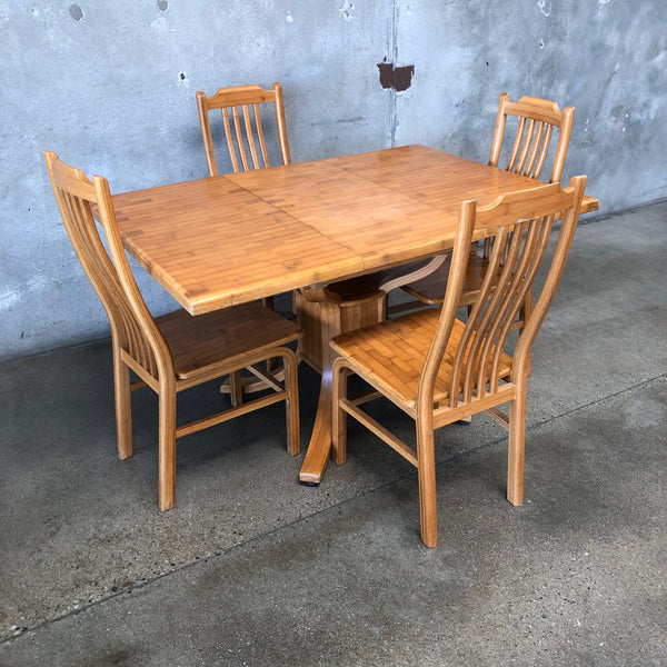 Vintage Wood Table And Chairs