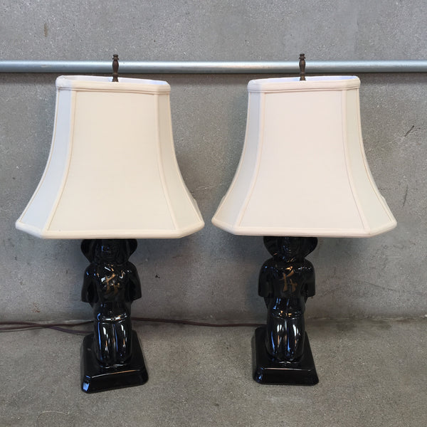 Pair of Kirkwood California Ceramic Lamps