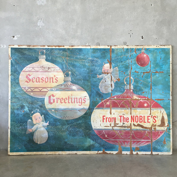 Season's Greetings Vintage Sign