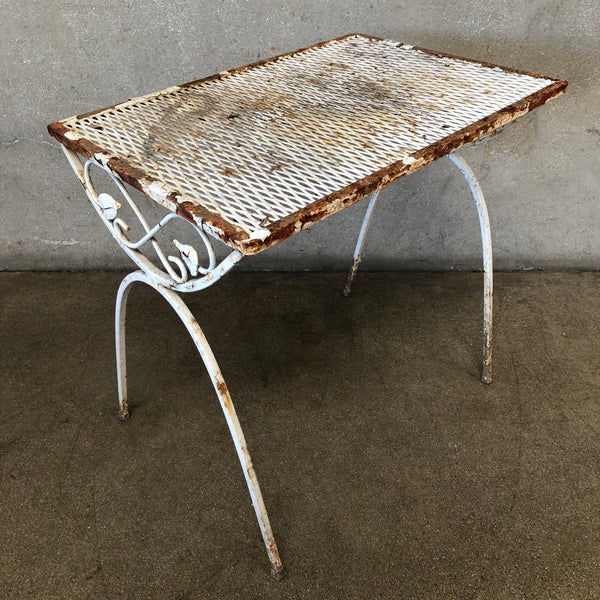 Vintage Metal Decorative Garden Table