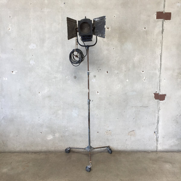 Vintage Baby Barrel Stage Lamp on Filmways Studio Stand
