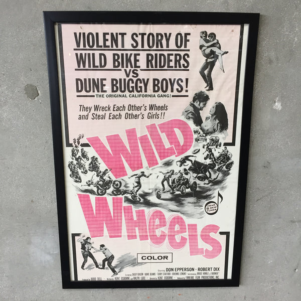1969 Wild Wheels Movie Poster