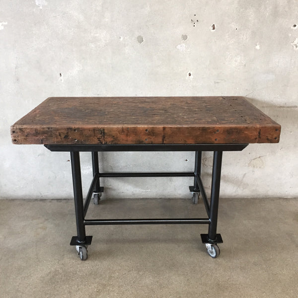 Industrial Table with Castors