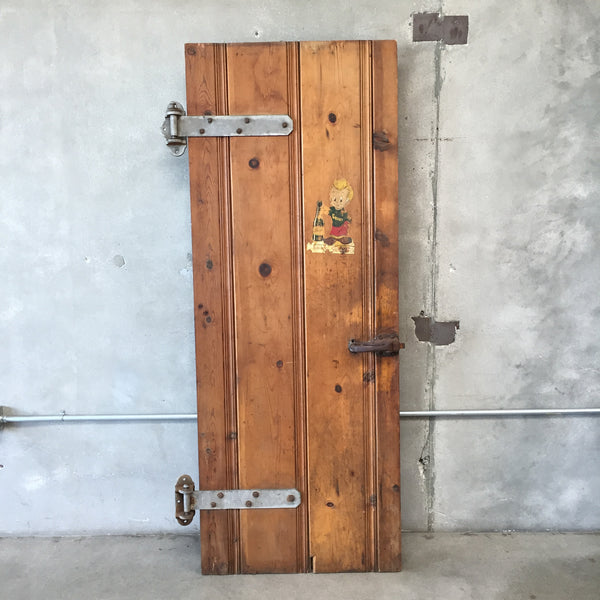Salvaged Refrigerator Door From Market