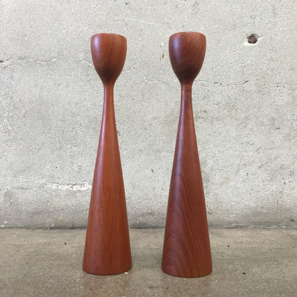 Pair of Vintage Danish Candle Sticks