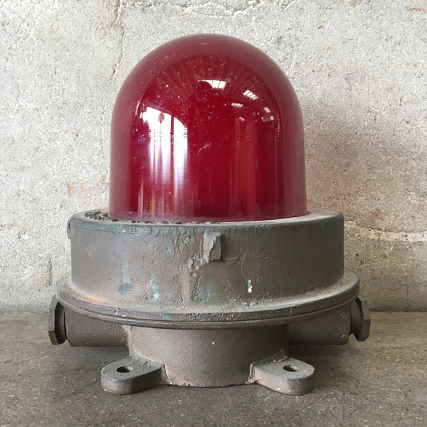 Vintage Red Boat Light