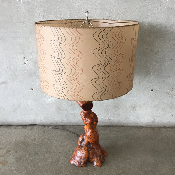 Burl Lamp with Shade