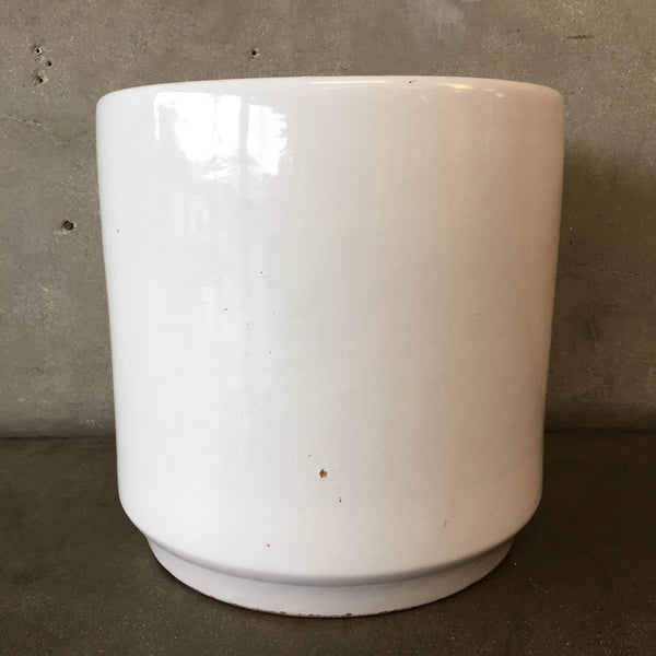 Large White Gainey Style Flower Pot
