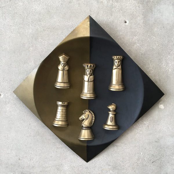Vintage Chess Piece Wall Art