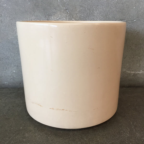 Cream Colored Flower Pot