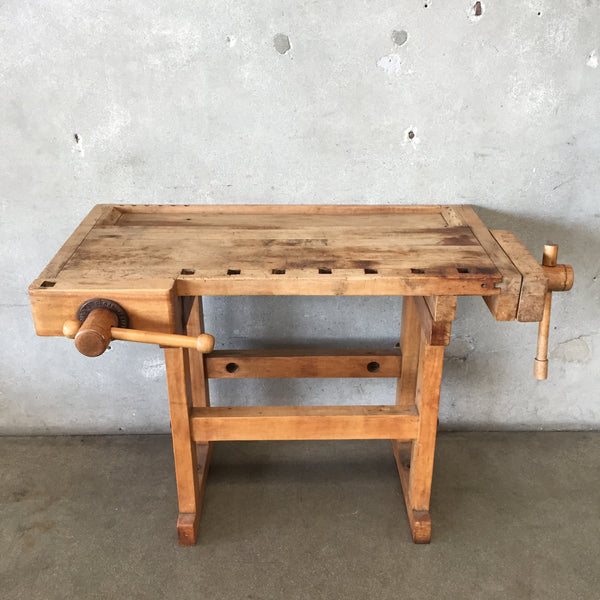 Vintage Christiansen Wood Workers Bench