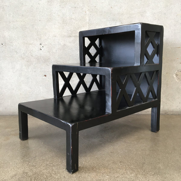 Modern Black Step End Table