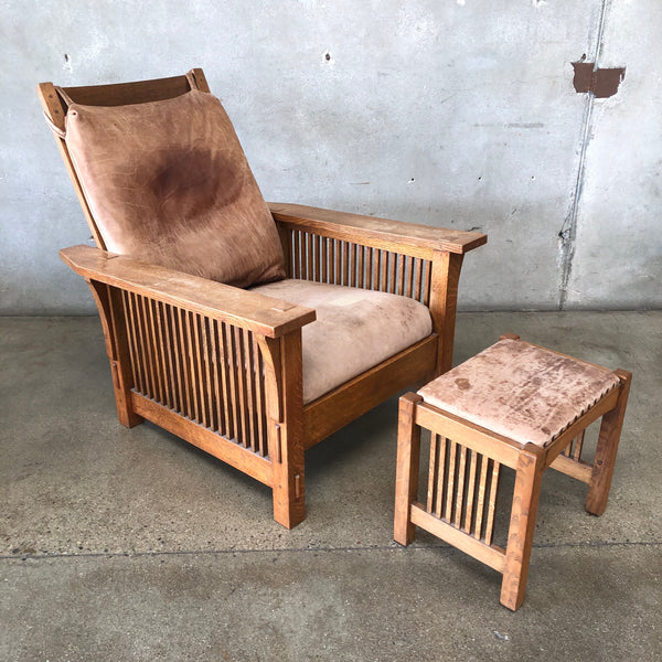 Warren Hile Mission Chair and Ottoman