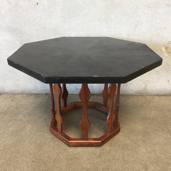 Mid Century Octagon Side Table