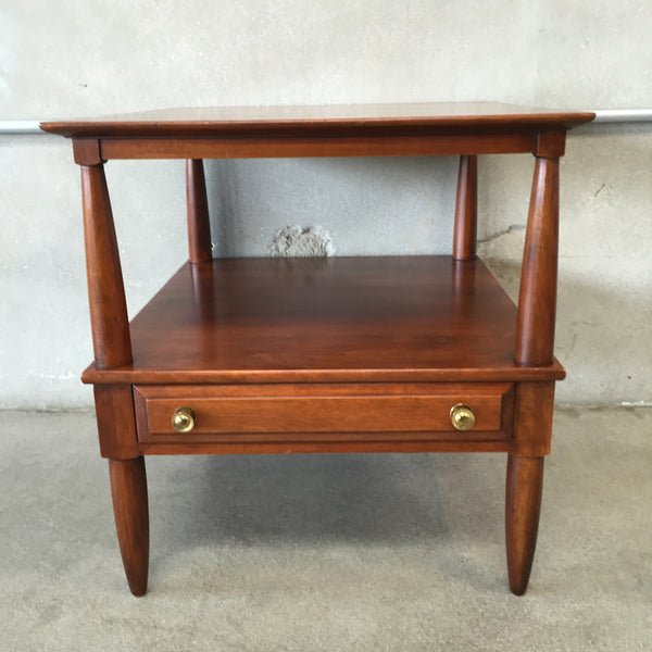 Willett Solid Cherry Mid Century Modern Side Table