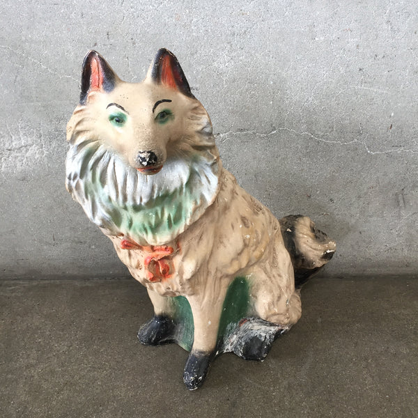 Chalkware Collie Dog