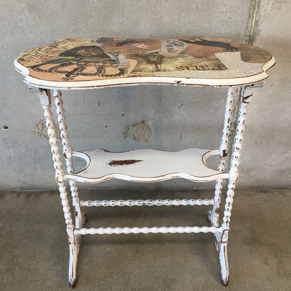Vintage Paris Decoupage Table