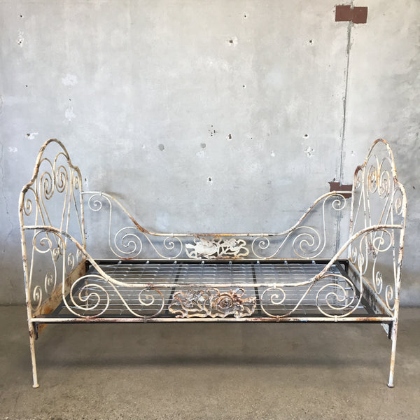 Vintage Wrought Iron Daybed