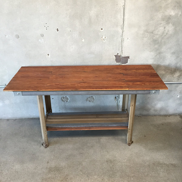 outstanding industrial kitchen island table | Industrial Slat Table / Kitchen Island – UrbanAmericana