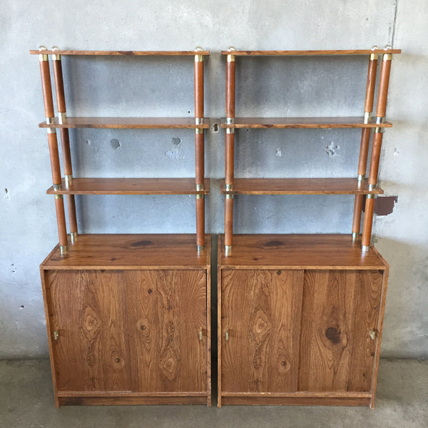 Pair of Vintage 1980's Shelf Units