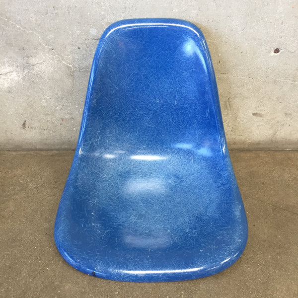 Vintage Eames Blue Shell Chair Seat