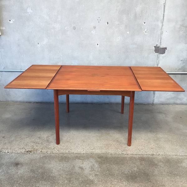 Teak Dining Table With 4 Chairs And Hidden Leaves