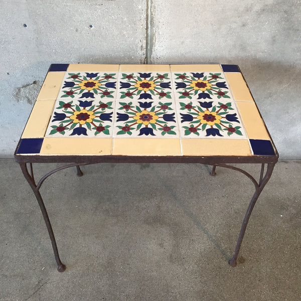 1930's Malibu Tile Table