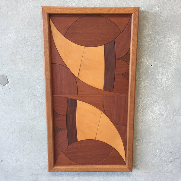 1970's Dave Criner Mixed Wood Wall Art
