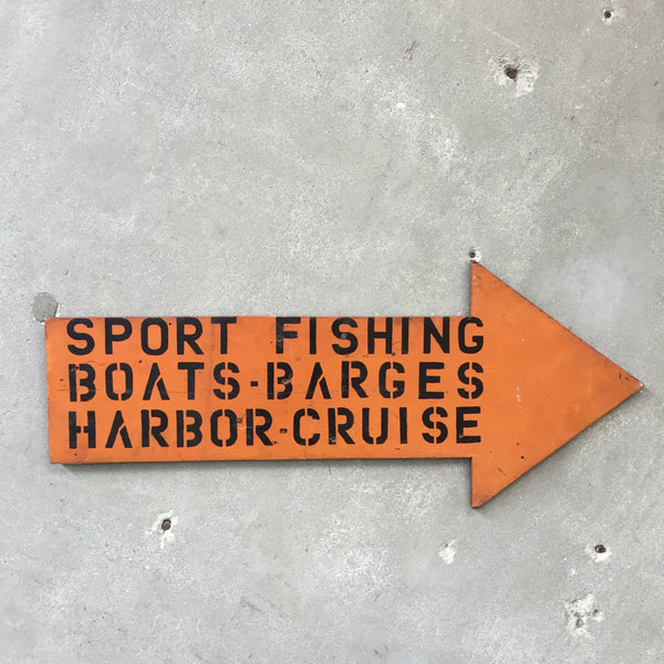 Vintage Sport Fishing Sign