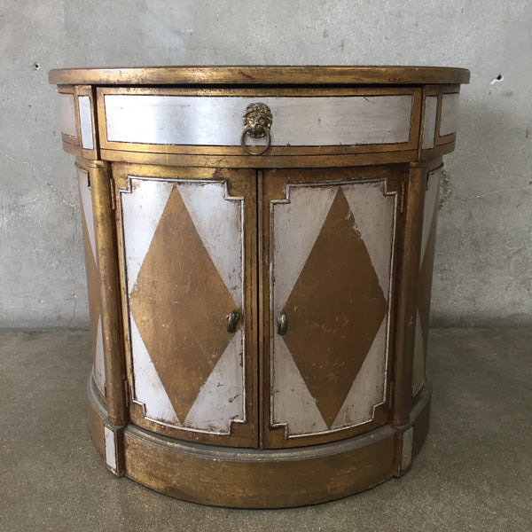 Antique Drum Side Table