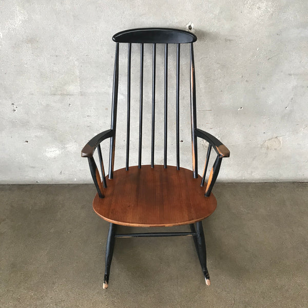 Mic Century Modern Rocking Chair Made in Sweden