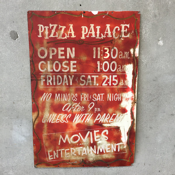 Vintage Pizza Palace Sign