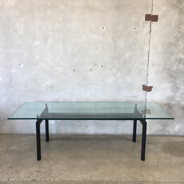 Le Corbusier LC6 Glass Top  Dining Table