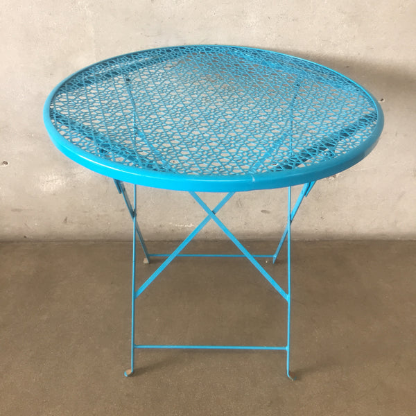Mid Century Metal Round Patio Table