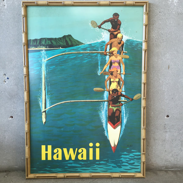 Original United Airlines Hawaii Travel Poster