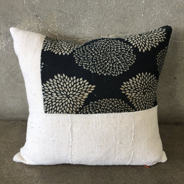 Vintage Mud Cloth & Indigo Patch Pillow