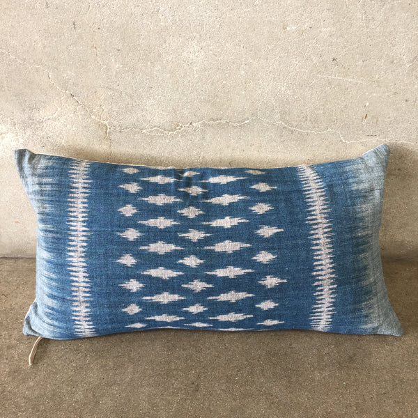 Vintage Laos Indigo Fabric Pillow