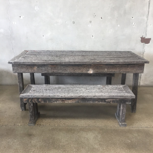 Vintage Rustic Picnic Table