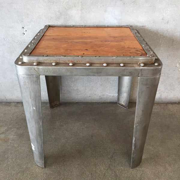 Metal Steam Punk End Table