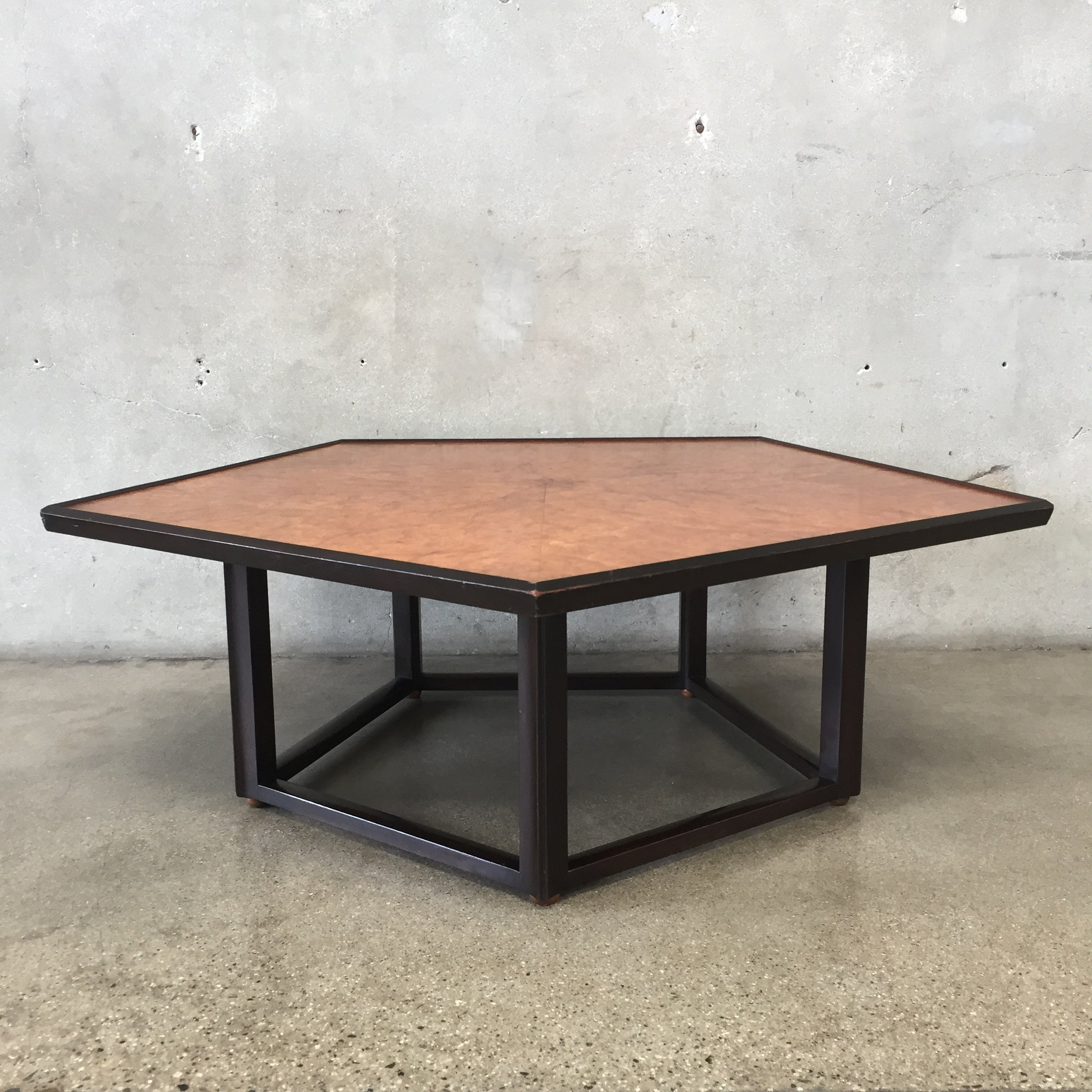 Mid Century Modern Pentagon Coffee Table by Edward Wormley for