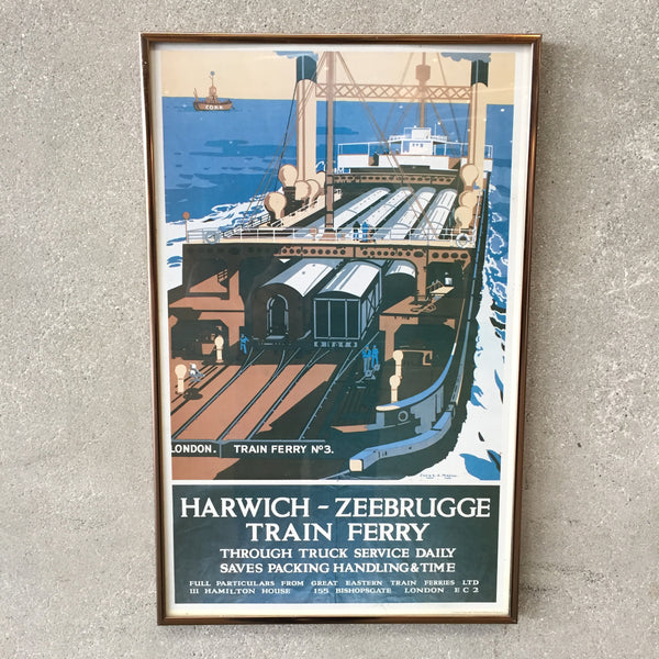 """Harwich - Zeebrugge Train Ferry"" Poster"