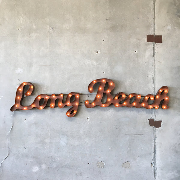 Custom Made Long Beach Sign