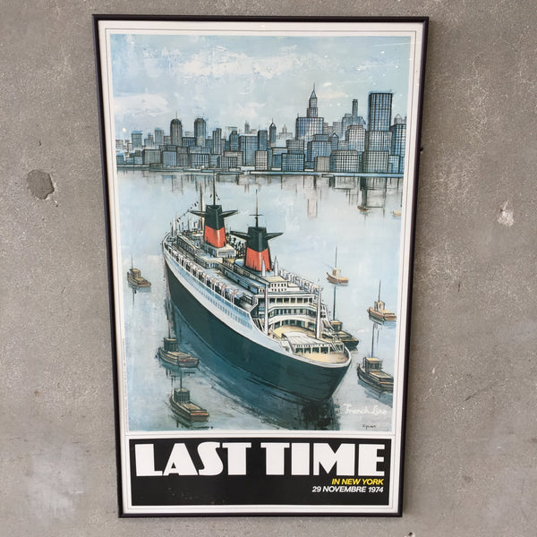 """Last Time In New York 1974"" Poster"