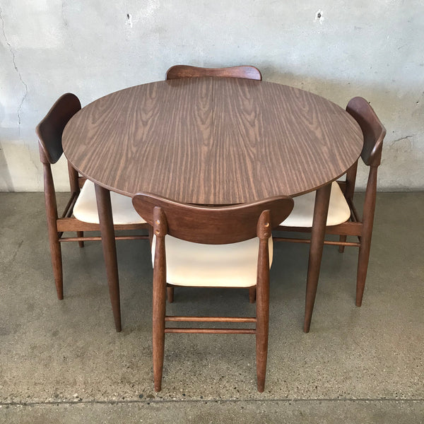 Mid Century Modern Dining Set with Extension