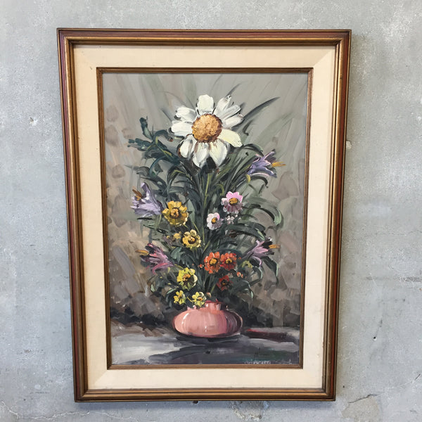Vintage Oil Painting in Custom Frame