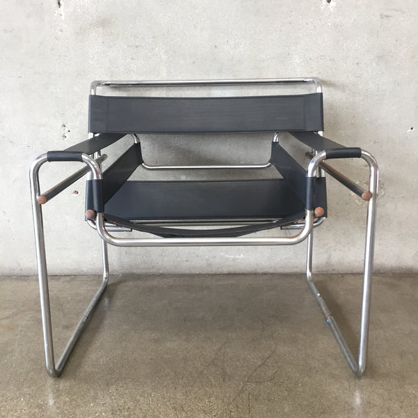 Chrome & Leather Wassily Style Chair