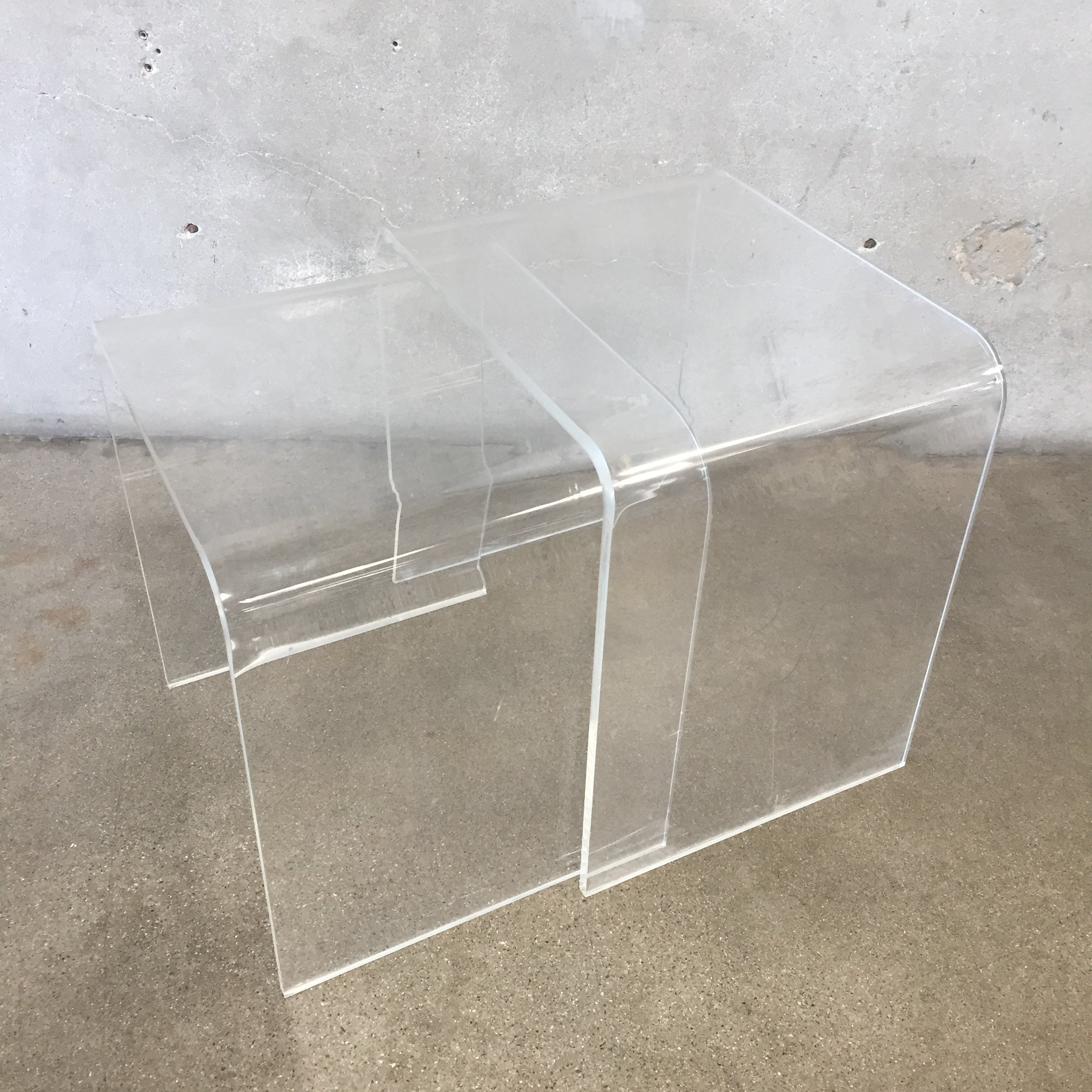 ... Lucite Nesting Tables ...