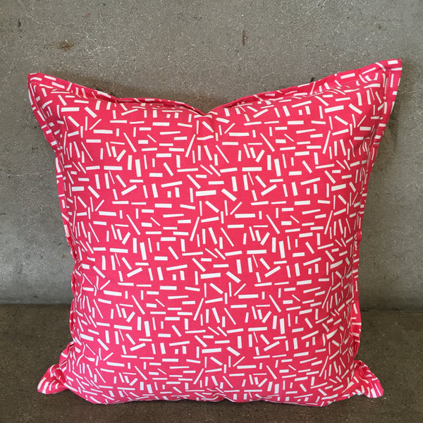 Modern Hot Pink & White Designer Pillow